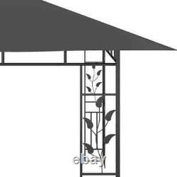 13.1'x9.8' Gazebo Tente Et Filet D'acier Mosquito Cadre Extérieur Anthracite