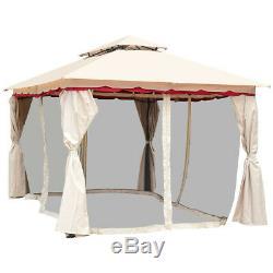 13 X 10 Extérieur Art Cadre En Acier Gazebo Canopy Avec Netting