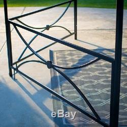 13' X 11' Hexagone Patio Auvent Gazebo Extérieur Meubles De Jardin Structure