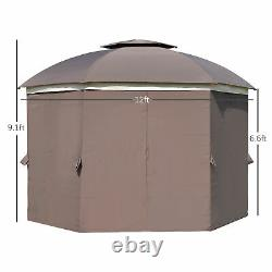 144 X 144 Backyard & Deck Cabana Avec Netting Sidewalls & Steel Frame
