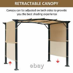16.5 Cadre En Acier Tissu Extérieur Gazebo Retractable Canopy Shade Auvent