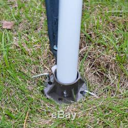 2 Gazebo Tier 11.5'x11.5 Canopy Abri Tente Auvent Cadre En Acier Patio Jardin