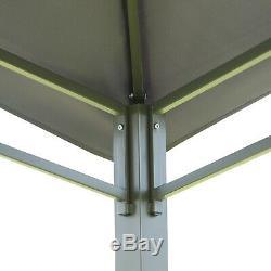 3x3 (m) Gazebo Patio Extérieur Pavillon Canopy Tente Cadre En Acier Gris