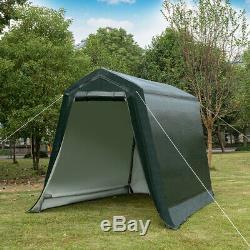 6'x8' Patio Tente Abri Abri De Stockage Abri Voiture Canopy Extérieur Vert
