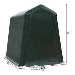 6'x8' Patio Tente Abri Abri De Stockage Abri Voiture Canopy Heavy Duty Vert