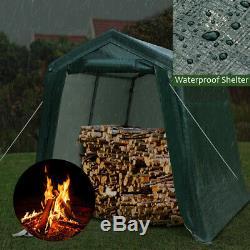 7'x12' Patio Tente Abri Abri De Stockage Abri Voiture Canopy Camp Outing Vert
