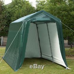 7'x12' Patio Tente Abri Abri De Stockage Abri Voiture Canopy Heavy Duty Vert