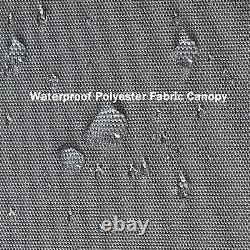 7x4.5ft Bbq Grill Gazebo Canopée Extérieure Avec Auvent Côté Cadre En Acier