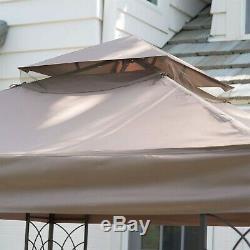 8 Pi X 8 Pi Gazebo Avec Top Vent Canopy Métal Cadre En Acier All Weather Matériau