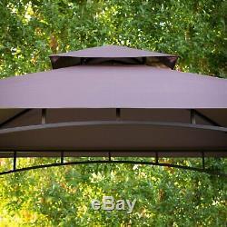 8 X 10 XL Métal Arrière Patio Louvered Pergola Pavilion Gazebo Auvent Barbecue Couverture