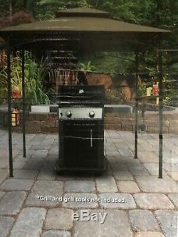 8'x 5' Barbecue Grill Canopy Gazebo Tente Avec Étagères Air Vent Plus Plus