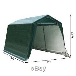 8'x14' Patio Tente Abri Abri De Stockage Abri Voiture Canopy Heavy Duty Vert