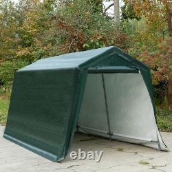 8'x14' Tente De Voiture De Patio Abri De Stockage De Voiture Shed Canopy Cadre En Acier Lourd-duty
