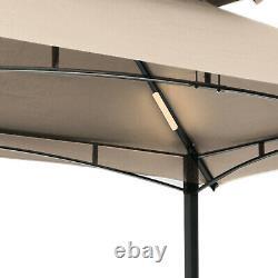 8'x5' Barbecue Extérieur Grill Gazebo Canopy Tente Patio Bbq Shelter Avec Lumière Led