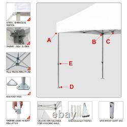8x8 Imperméable Tente Pliante Paty Désherbage Patio Gazebo Extérieur Sport Tente Abri