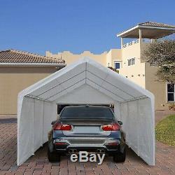 Abba Patio 12 X 20 Pieds Heavy Duty Carport Domaine, Abri Canopy Voiture Avec 2 Rem