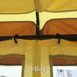 Acier Gazebo Grand 12x12 Heavy Duty Moustiquaire Projeté Canopy Étanche
