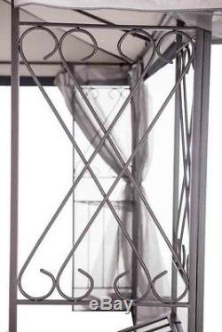 Acier Gazebo Grande Pergola Heavy Duty 10 X 12 Patio Métalframe Canopy Mariage