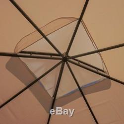 Acier Gazebo Grande Pergola Heavy Duty Toit Patio Extérieur Cadre En Métal Auvent Tente