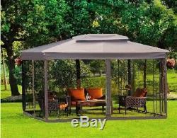 Acier Gazebo Grande Tente Pergola Canopy Cadre Métallique Moustiquaire Party Cour