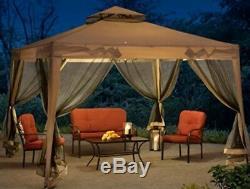 Acier Gazebo Instant Party Canopy Tente De Mariage Ventilé Netting Easy Screen Pop Up