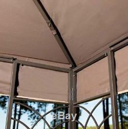 Acier Gazebo Kit Pergola Heavy Duty 11x13 Toit Patio Cadre En Métal Auvent Tente Nouveau