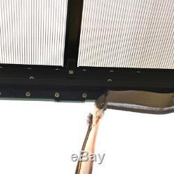 Aleko Aluminium Hardtop Gazebo Avec Des Murs En Maille Amovible 10 X 12 Pieds Brown
