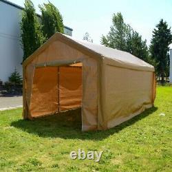 Aleko Beige 10' X 20' Heavy Duty Extérieur Gazebo Auvent Tente Avec Parois