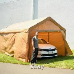Aleko Beige Tente De Canopée De Gazebo De 10 'x 20' Heavy Duty Heavy Duty Avec Des Parois Latérales