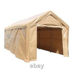 Aleko Heavy Duty Outdoor Gazebo Canopy Tent Avec Sidewalls 10' X 20' Beige