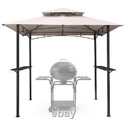 Asteroutdoor 8x5 Extérieur Grill Gazebo 2-tier Vented Bbq Canopy Steel Frame
