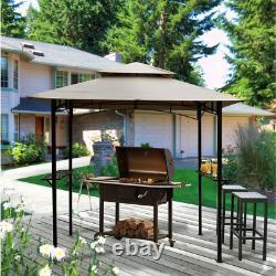 Barbecue Extérieure Grill Gazebo Canopy 8 X 5 Ft Acier Cadre Métallique Couverture Tente
