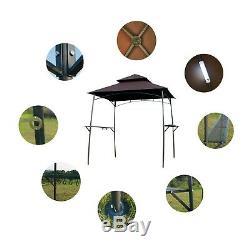Barbecue Grill Gazebo Barbecue Canopy D'extérieur En Métal Tente 2-tier Sun Shelter Avec Des Lumières