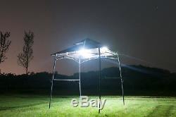 Bbq Extérieur Grill Gazebo Jardin Tente Canopy Métal Party Pare-soleil Avec Des Lumières