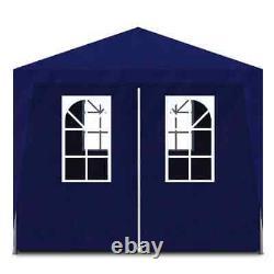 Belvédère Gazebo Extérieure 10'x20' Party Tent Tent Patio Couleur Bleue