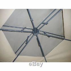 Belvédère Hexagone Jardin Patio Ombre Tente Canopy Netting Zips Cadre En Acier D'écran