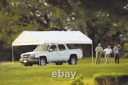 Cadre En Acier Blanc Lourd 10'x20' 6 Pieds Gazebo Canopy Patio Camping Shelter