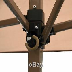 Cadre En Acier Gazebo Portable 13 X 13 Jardin Ombre Tente Ventilé Toit Canopy Instantanée