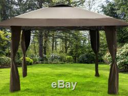 Cadre En Acier Gazebo Portable 13 X 13 Jardin Tente De L'ombre Toit Ventilé Instantanée Canopy