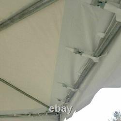 Cadre Événement De Fête 10x10' Tente Canopy Bleu Blanc Pvc Côte Ouest Gazebo Imperméable