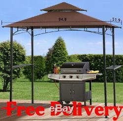 Cadre Extérieur Vented Acier Bbq Grill Gazebo Canopy Tente Cour Abri Patio