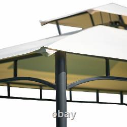 Canopée Barbecue Sous Tente Pour Les Activités De Plein Air, Gazebo Avec Étagères Et Cadre Métallique
