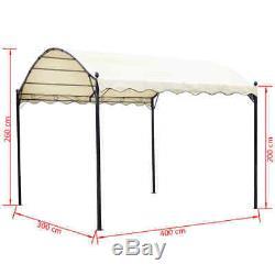 Canopy Extérieur 13'x10'x8' Patio Gazebo Abri De Voiture Abri De Jardin Tente Blanc Crème