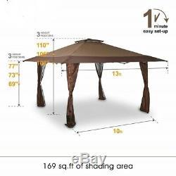 Canopy Pop-up 13 X 13 Cadre En Acier Hauteur Ajustable Gazebo Tente Abri Extérieur