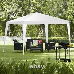 Canopy Tent Outdoor Events Party Mariage Blanc 10x10ft Gazebo Steel Frame Pop Up
