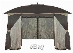 Chalet Gazebo 10 X 12 Patio Canopy Ombre Couverture Extérieur Cour Écran Maison Tente