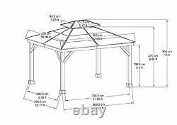 Chapman 11 X 13 Pieds Cedar Framed Gazebo Avec Steel 2-tier Hip Roof Hardtop