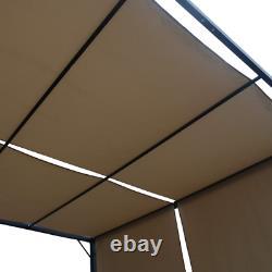 Christopher Knight Accueil 304392 Wendy Outdoor Steel Framed 10' Gazebo, Beige/blac