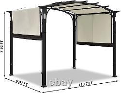 Coastshade 10x8 Pergola Gazebo Canopy Extérieur Patio Jardin Acier Cadre Soleil