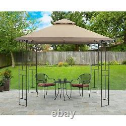 Couverture Extérieure Gazebo Shade Canopy Steel Frame 10x10' Patio Deck Backyard Shelter